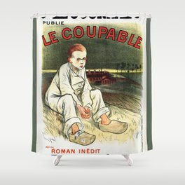 Le Coupable, The Guilty One Shower Curtain