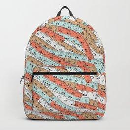 Vintage tape measure print Backpack
