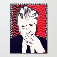david lynch Canvas Prints featuring David Lynch  by Paola Rassu