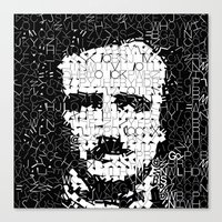 poe Canvas Prints featuring Poe by Artstiles