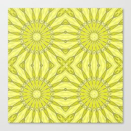 Yellow Pinwheel Flower Canvas Print