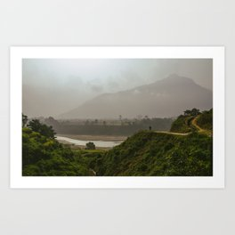 Nepal Mystic Mountain + Shaman Art Print