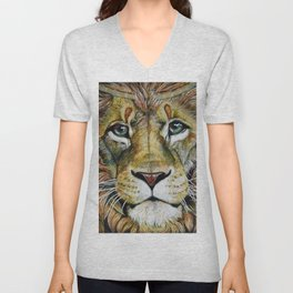 Lion Gaze Unisex V-Neck