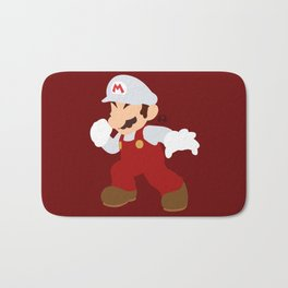 Mario(Smash)Fire Bath Mat