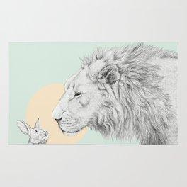 Lion and Bunny Rug