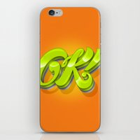 kim sy ok iPhone & iPod Skins featuring Ok by Roberlan Borges