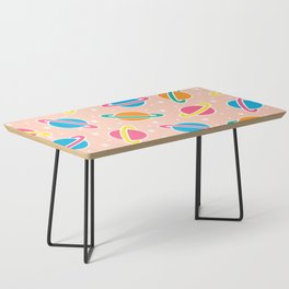 Space Planets Pattern in Pink Coffee Table