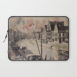 Ghent Painted Postcard Laptop Sleeve