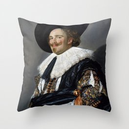 Frans Hals Laughing Cavalier Throw Pillow