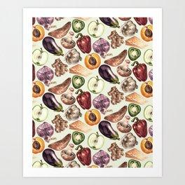 Food Pattern Art Print