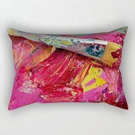 Artist's Pink Paint Palette Rectangular Pillow