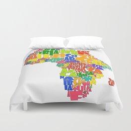 African Continent Cloud Map Duvet Cover