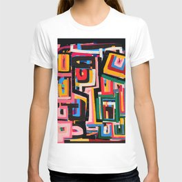 Neo Cubism Abstract Art Pattern Mystic T-shirt