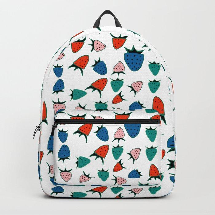 Strawberry white Backpack