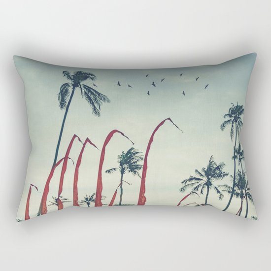 Coconut - Palms and Flags Rectangular Pillow