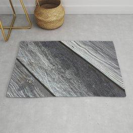 Diagonal Grey Barn Wood Rug