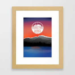 Scafell Pike [Three Peaks Series] Framed Art Print