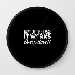 60% of Time, It Works Every Time Wall Clock