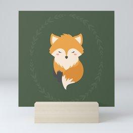Sleepy Fox Pattern Mini Art Print