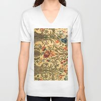 rug V-neck T-shirts featuring Vintage rug by ~~a~~k~~a~~