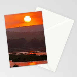 Sunrise at a river in Africa  Stationery Cards