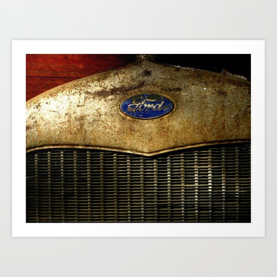 Rusty Ford Art Print