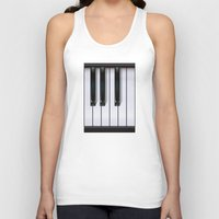 piano Tank Tops featuring Piano by rob art | illustration