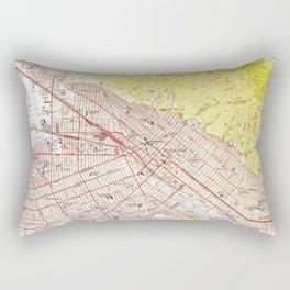 Vintage Map of Burbank California (1953) Rectangular Pillow
