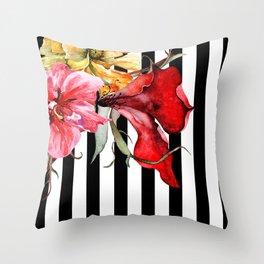 FLORA BOTANICA   stripes Throw Pillow