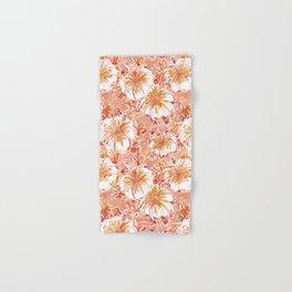KOMBUCHA-CHA Orange Tropical Hibiscus Floral Hand & Bath Towel