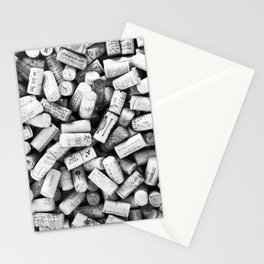 Something Nostalgic II Twist-off Wine Corks in Black And White #decor #society6 #buyart Stationery Cards