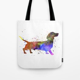 Short Haired Dachshund 01 in watercolor Tote Bag