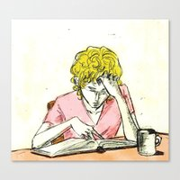 les mis Canvas Prints featuring Enjolras studying Les Mis by Pruoviare