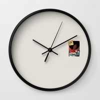 records Wall Clocks featuring mondongo records by qteln