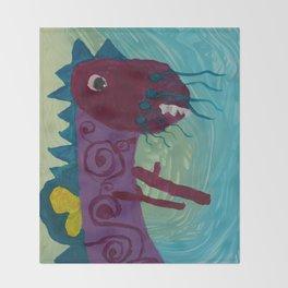Dragon : Funny creature Series Throw Blanket