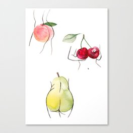 fruity ladies Canvas Print