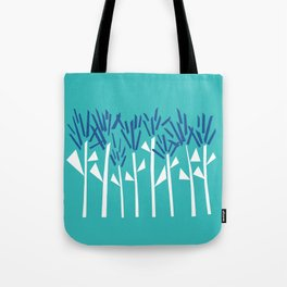 Tropical Blue Plants by Emma Freeman Designs Tote Bag
