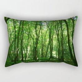 Too Much Green to Feel Blue Rectangular Pillow