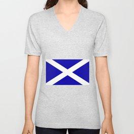 Scottish Flag Unisex V-Neck