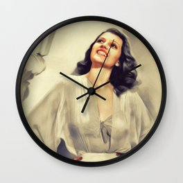 Rita Hayworth, Movie Legend Wall Clock
