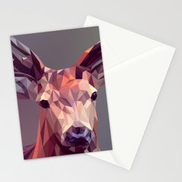 Colorful Polygons Abstract Deer Stationery Cards