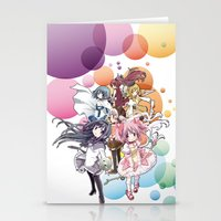 madoka magica Stationery Cards featuring Puella Magi Madoka Magica - Only You by Yue Graphic Design