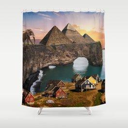 A Diverse Land Shower Curtain