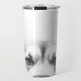 Dog portrait in black & white Travel Mug