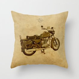 Ducat Condor 350 Militare 1973 old motorcycle Throw Pillow