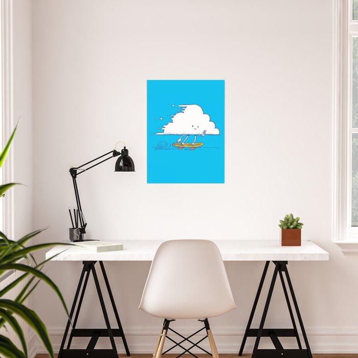 Cloud Skater Poster