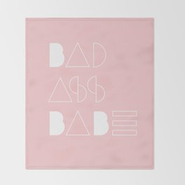 Bad Ass Babe Throw Blanket