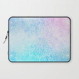 Watercolor White Mandala Illustration Pattern Laptop Sleeve