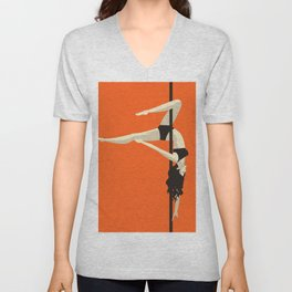 pole dancer Unisex V-Neck