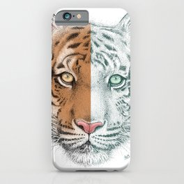 Tiger Split iPhone Case